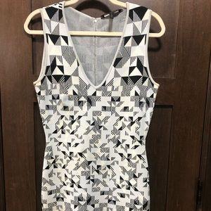 BCBG Maxazria Geometric Bodycon Dress Medium